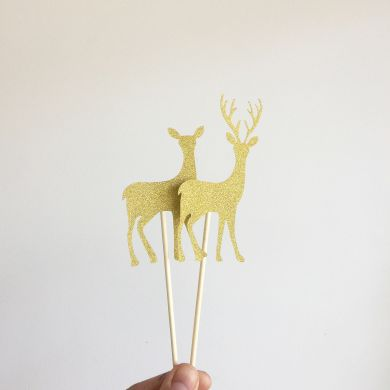 Topper : Gold Deer Set