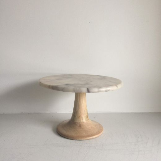 Wood And Marble Stand