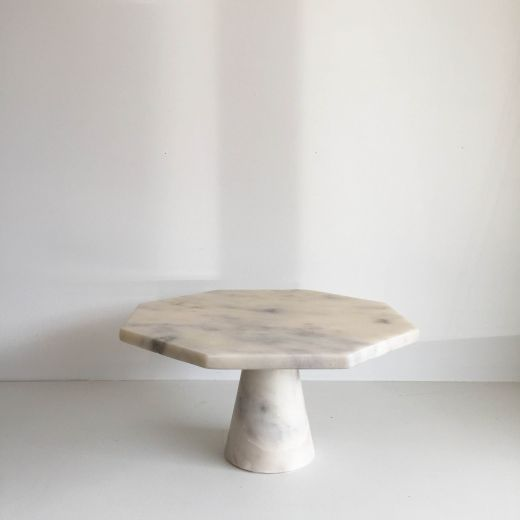 Light Grey Marble Geometric Stand