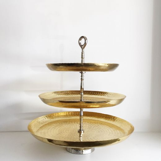 3 Tier Gold Dot Stand